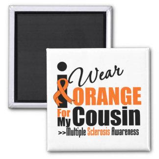 Esclerosis múltiple llevo el naranja para mi primo imanes para frigoríficos