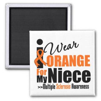 Esclerosis múltiple llevo el naranja para mi sobri imán