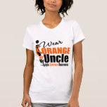 Esclerosis múltiple llevo el naranja para mi tío camisetas