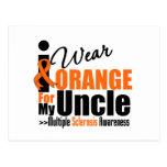 Esclerosis múltiple llevo el naranja para mi tío tarjeta postal