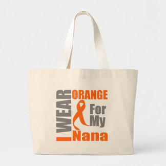 Esclerosis múltiple llevo la cinta anaranjada Nana Bolsa Tela Grande