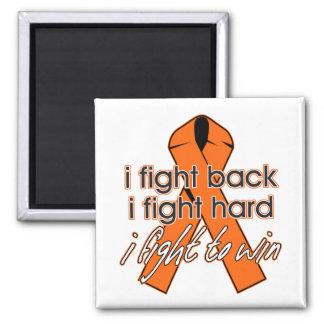 Esclerosis múltiple que me defiendo imán cuadrado