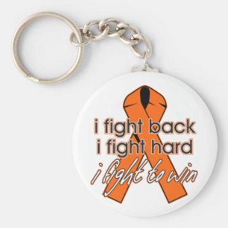 Esclerosis múltiple que me defiendo llavero redondo tipo pin