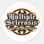 Esclerosis múltiple tribal pegatina redonda
