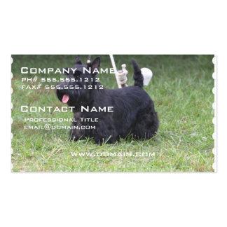 Escocés adorable Terrier Plantilla De Tarjeta De Visita