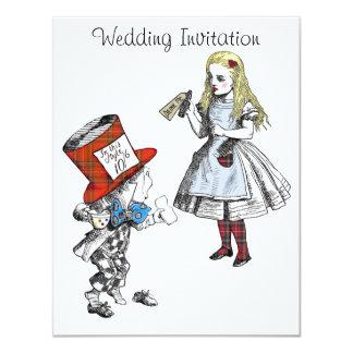 Escocés Alicia en la invitación del boda del país