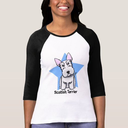 Escocés blanco Terrier de la estrella de Kawaii Tee Shirt