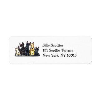 Escocés cinco etiqueta de remite