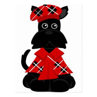 escocés de PeticularFashions.com Tarjetas Postales