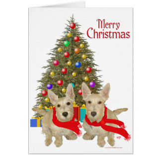 Escocés de trigo Terrier Chirstmas Felicitaciones