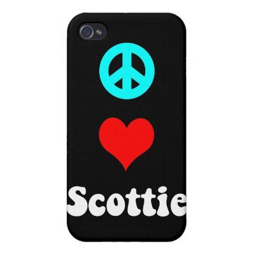 escocés del amor de la paz iPhone 4 carcasas