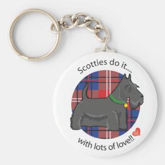 Escocés del amor llavero redondo tipo pin