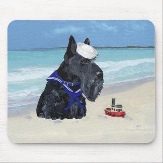 Escocés en la playa tapete de raton