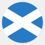 Escocés Escocia Pegatina Redonda
