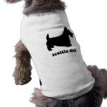 Escocés fresco camiseta de perro