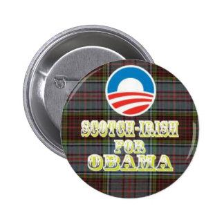 Escocés-Irlandés para el botón de Obama Pin Redondo De 2 Pulgadas