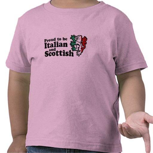 Escocés italiano camisetas