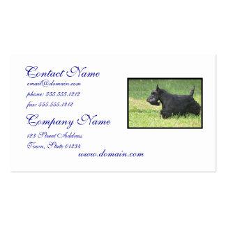 Escocés lindo Terrier Plantilla De Tarjeta De Visita