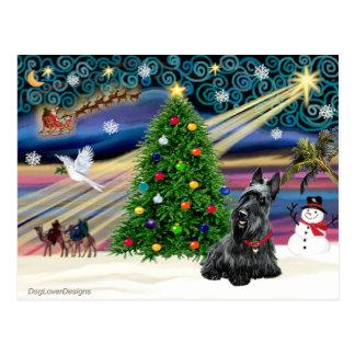 Escocés mágico Terrier 2B del navidad Postales