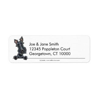 Escocés negro Terrier limpio y simple Etiqueta De Remitente