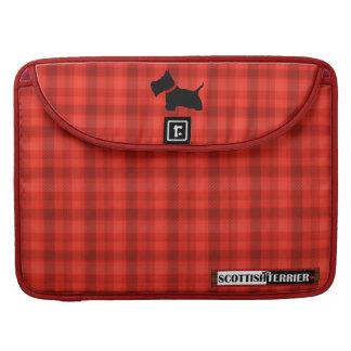 Escocés ningún tartán de 8 rojos funda macbook pro