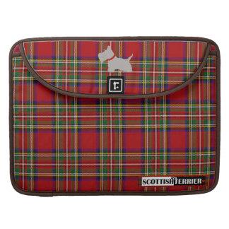 Escocés ningún tartán rojo oscuro gris 8 fundas para macbooks