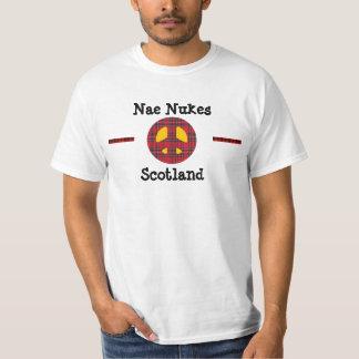 Escocés ninguna camiseta de la paz de la banda del camisas