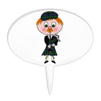 Escocés Pagpiper Figuras De Tarta