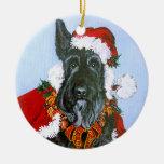 Escocés Papá Noel Ornamentos Para Reyes Magos