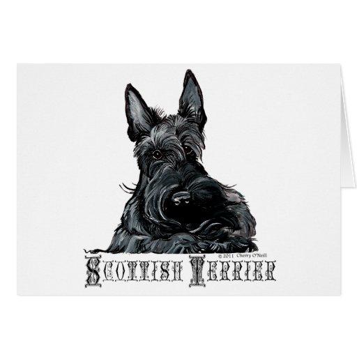 Escocés pequenito Terrier Tarjetas