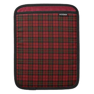 Escocés rojo del tartán fundas para iPads