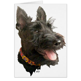 Escocés sonriente Terrier Tarjeta De Felicitación