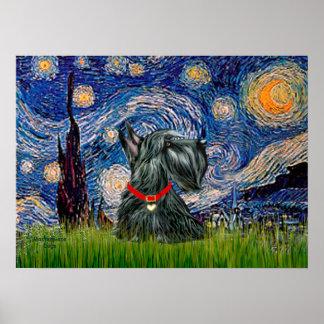 Escocés Terrier 12c - noche estrellada Impresiones