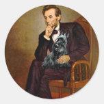Escocés Terrier 3 - Lincoln Pegatinas Redondas
