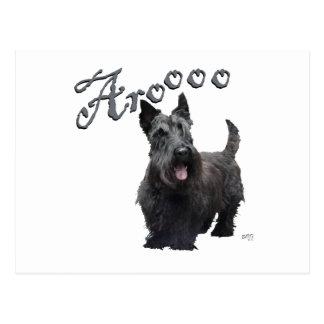 ¡Escocés Terrier Aroooo Tarjeta Postal