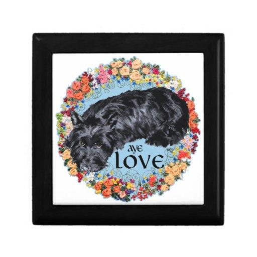 Escocés Terrier:  ¡Aye, amor! Caja De Joyas