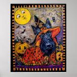 Escocés Terrier de Halloween Poster