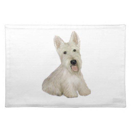 Escocés Terrier - de trigo Mantel Individual