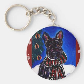 Escocés Terrier del día de fiesta Llavero