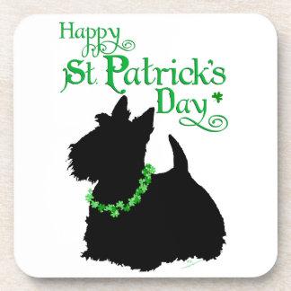 Escocés Terrier del día de St Patrick Posavasos