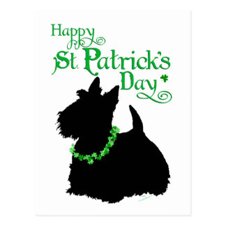 Escocés Terrier del día de St Patrick Postales