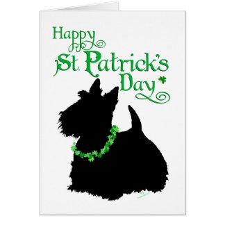 Escocés Terrier del día de St Patrick Tarjeta De Felicitación