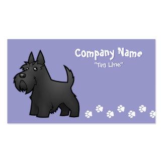 Escocés Terrier del dibujo animado Plantillas De Tarjeta De Negocio