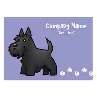 Escocés Terrier del dibujo animado Tarjeta De Visita