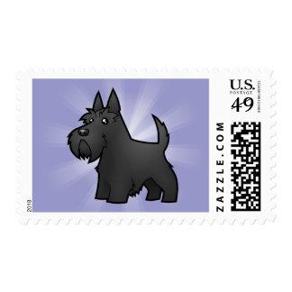 Escocés Terrier del dibujo animado Timbres Postales