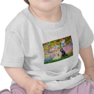 Escocés Terrier (dos BW) - jardín Camiseta