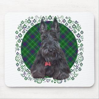 Escocés Terrier en el tartán Alfombrilla De Ratón