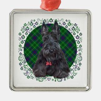 Escocés Terrier en el tartán Ornamente De Reyes