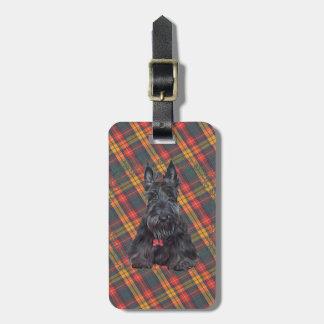 Escocés Terrier en el tartán Etiquetas Para Maletas