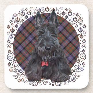 Escocés Terrier en el tartán Posavasos De Bebidas